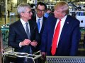 Apple CEO Tim Cook and President Trump toured a Texas computer factory to tout US manufacturing